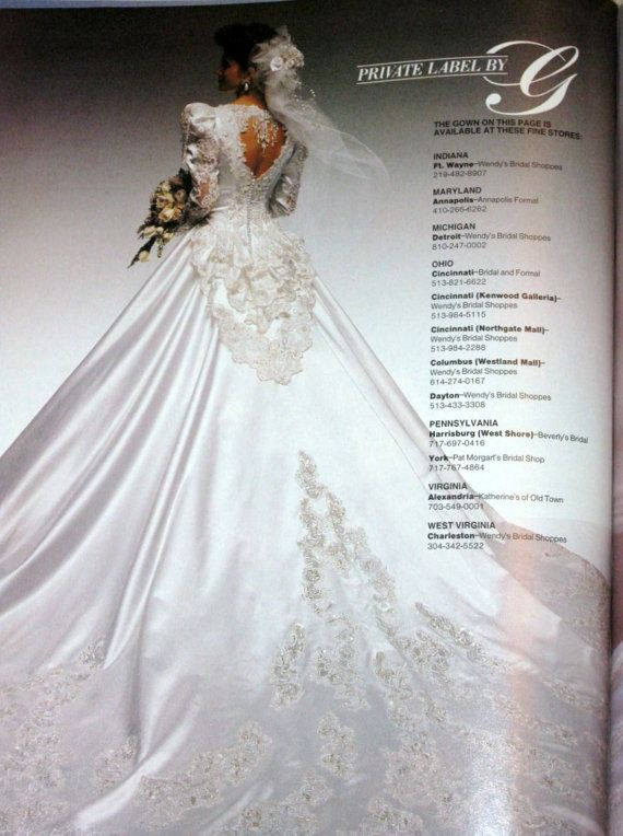 private label by g wedding dresses 1990 - Google Search | 1990\'s ...