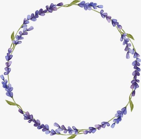 Lavender Floral Wreath Drawing Floral Wreaths Illustration Wreath Drawing