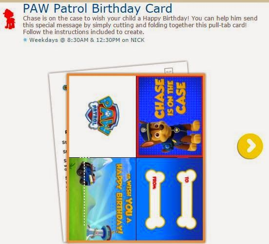 paw patrol free printable greeting card