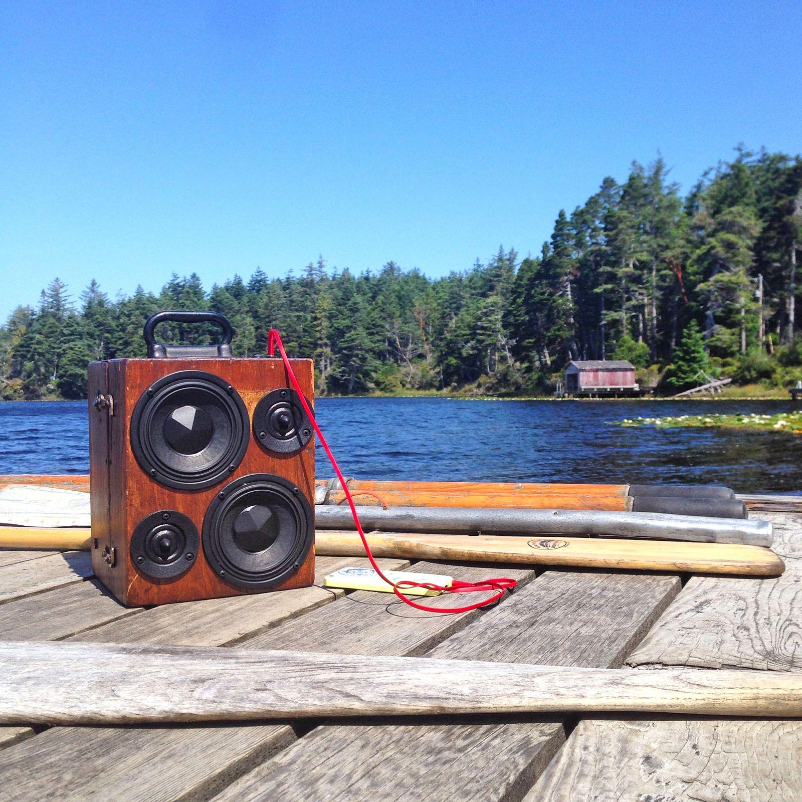 Wood BoomCase x Oregon Lake Cabin - #bluetooth #boomcase