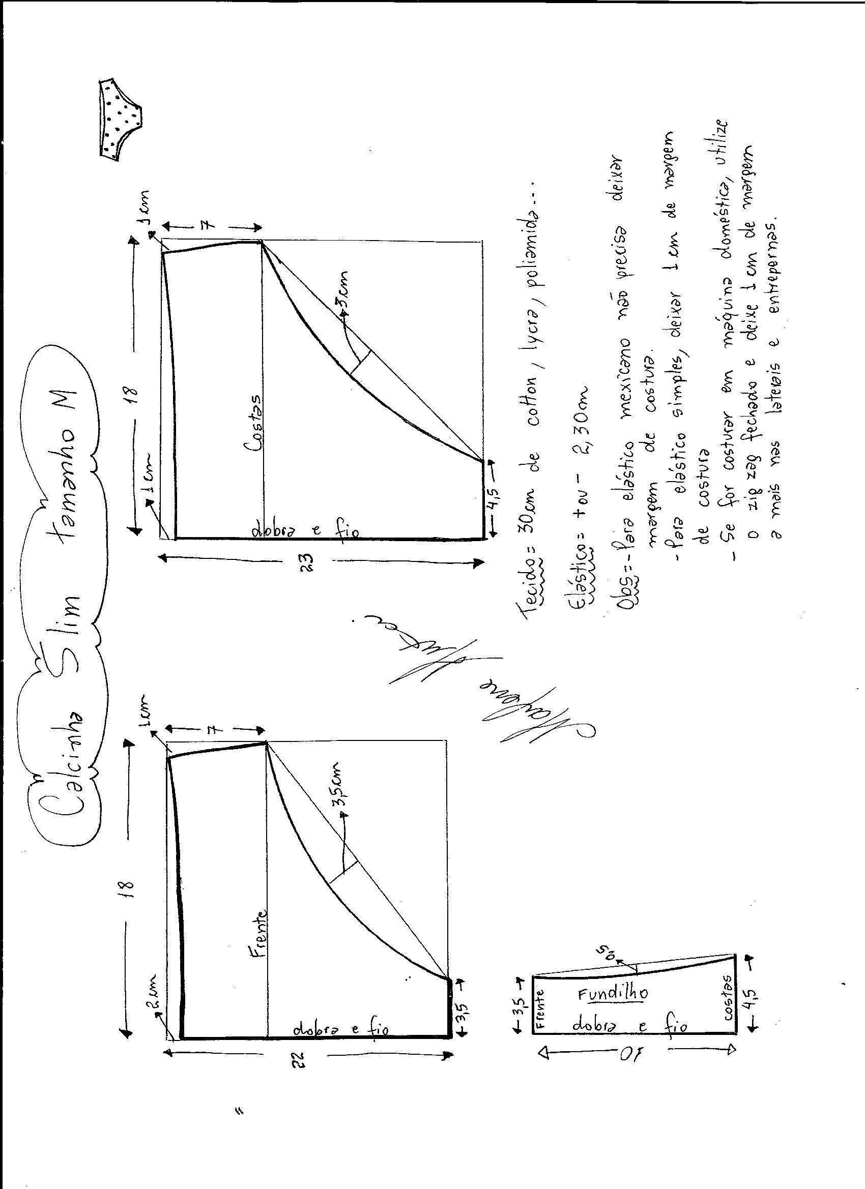 01a3b6f4d Molde De Calcinha, Tipos De Calcinha, Como Fazer Calcinha, Modelagem,  Cuecas,