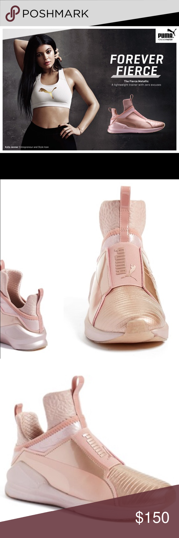 9848cc954d7a PUMA Fierce Kylie Jenner Sneaker ROSEGOLD Brand new in box. In  collaboration with Rihanna s Fenty