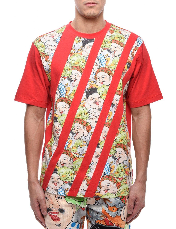 Shirt design red - Evisu T Shirts Tops Men Tee Red Shirt