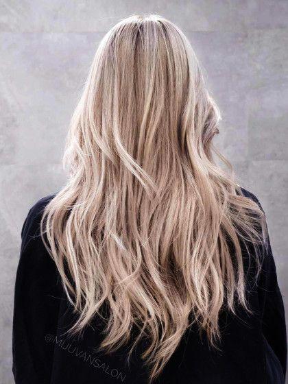 Aschige haarfarben blond