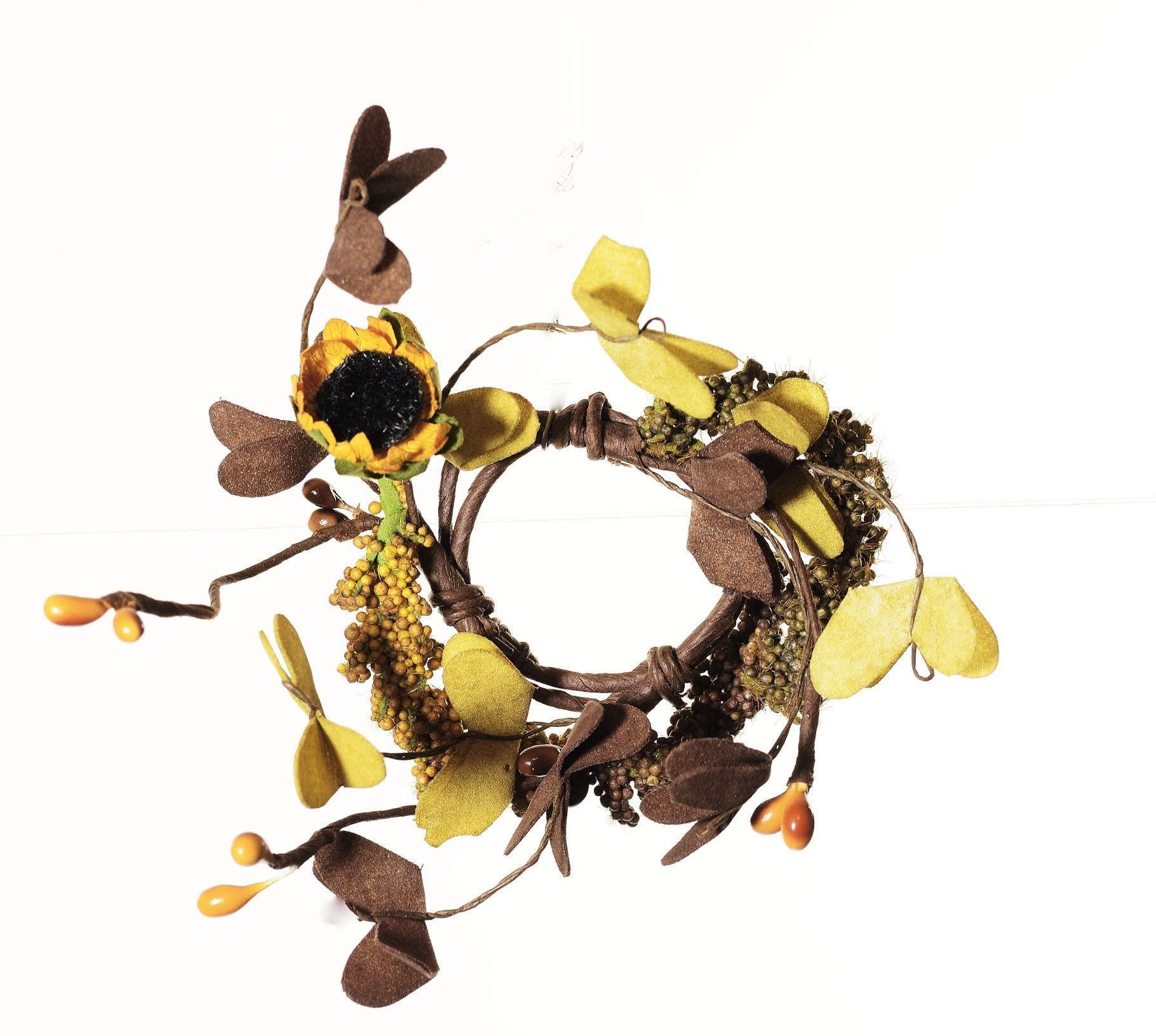 Early Fall Morning Sunflower Ring Wreath (Set of 2)