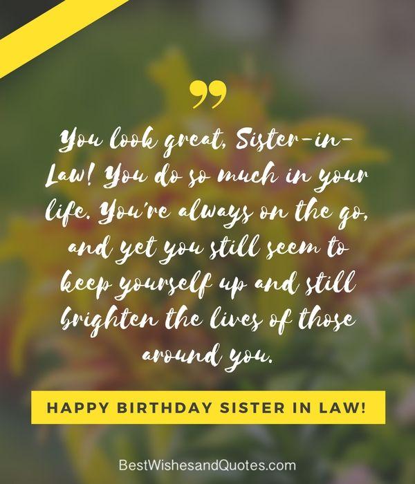 Happy Birthday Sister In Law Sister Birthday Quotes Sister Birthday Happy Birthday Sister