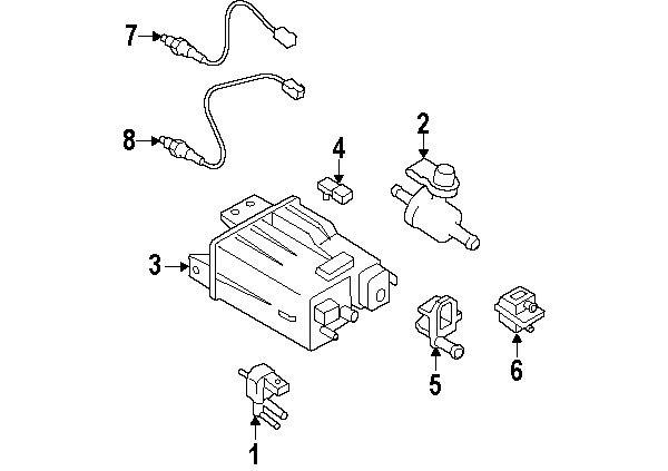 Nissan 226a01kc0a Genuine Oem Oxygen Sensor