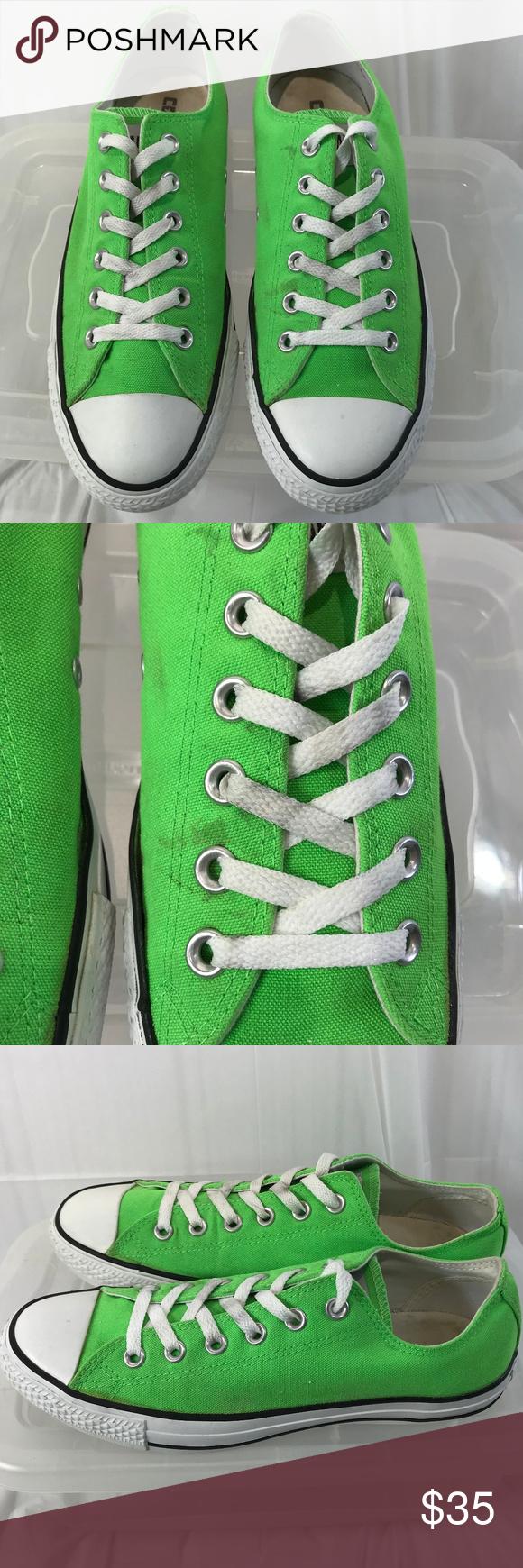 a2009b6b865 Rare Neon Green Converse All Stars Unisex 7M 9W Rare Neon Green Converse  All Star