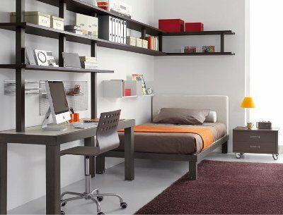 Libreros decoration pinterest recamara muebles y for Dormitorios juveniles con escritorio