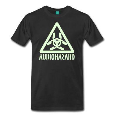 """#Tshirt #logo #audiohazard """"Glow In The Dark"""". #buyone #buynow €19,99"""