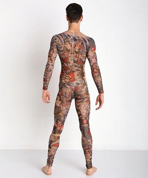 21f62a0b72 DSQUARED Multicolor Jumpsuit Tattoo Print | Love it! | Tattoo tights ...