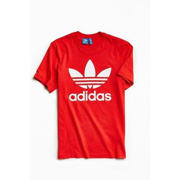 adidas Originals Men's Trefoil T Shirt, Red | Adidas