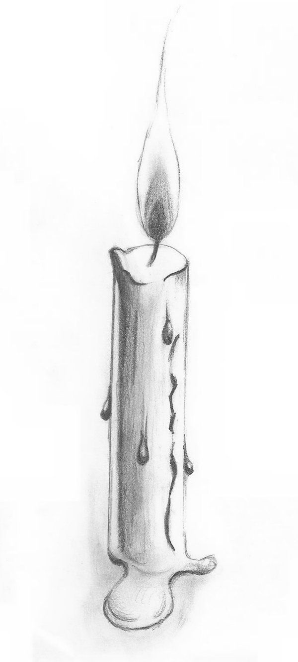 Candle Pencil Drawing