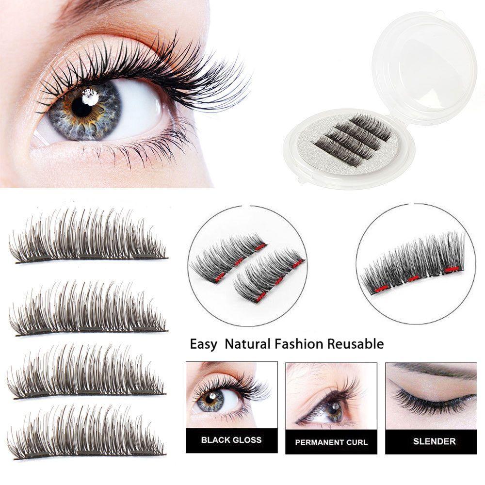 bc226603bf5 Triple Magnetic 3D Eyelashes Handmade Reusable False Long Magnet Full Eye  Lashes #Unbranded
