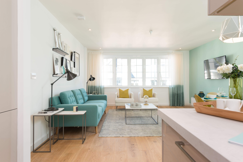 Stunning Minimalist Open Plan Living Room And Kitchen Sofas
