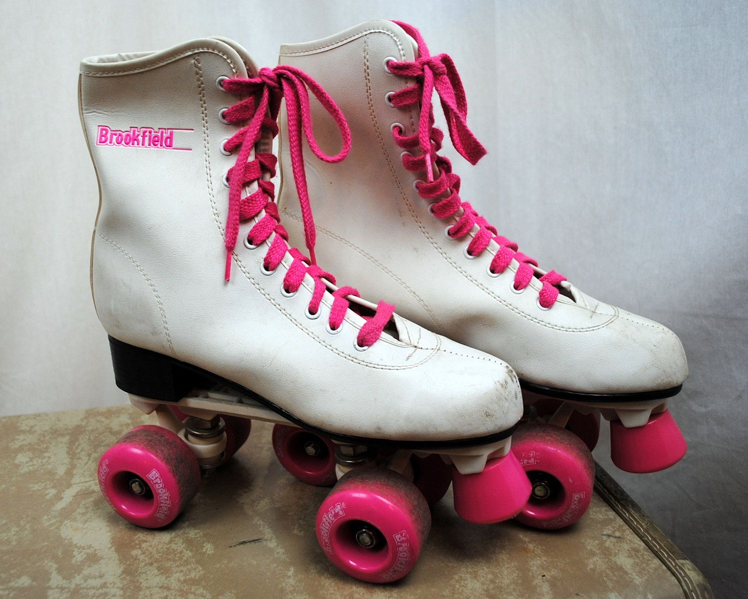 Roller Skates with hot pink wheels! Pretty much lived at the roller rink in the 80s