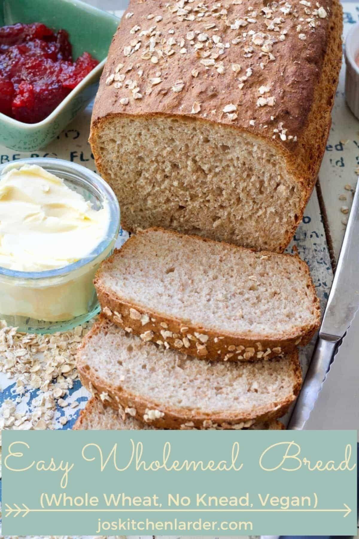 Easy Wholemeal Bread Recipe No Knead Recipe Wholemeal Bread Recipe Homemade Sandwich Bread Recipes Homemade