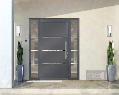 Front Doors Exclusive Doors Aluminium Doors 2 Side Elements