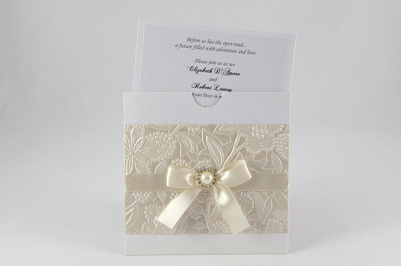Wedding Invitation Collection Cream And Pearl Invitations