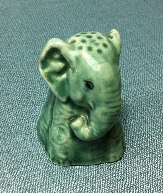 Miniature Ceramic Sew Sewing Thimble Elephant by thaicraftvillage, $10.00