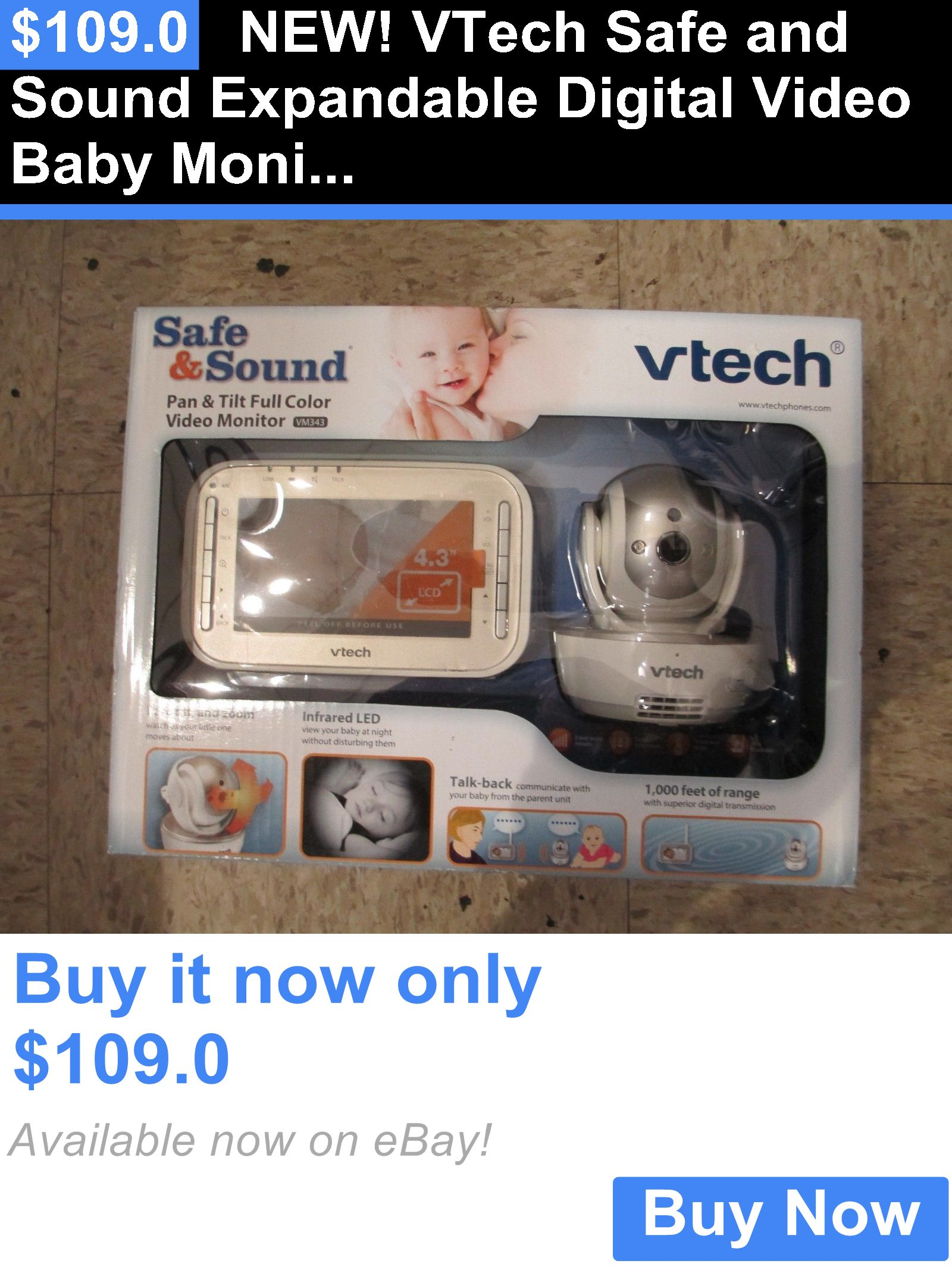 baby kid stuff: New! Vtech Safe And Sound Expandable Digital Video Baby Monitor- Vm343 BUY IT NOW ONLY: $109.0