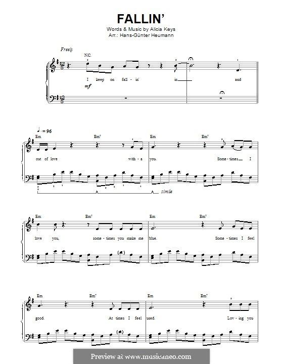 Fallin With Images Sheet Music Sheet Music Direct Digital
