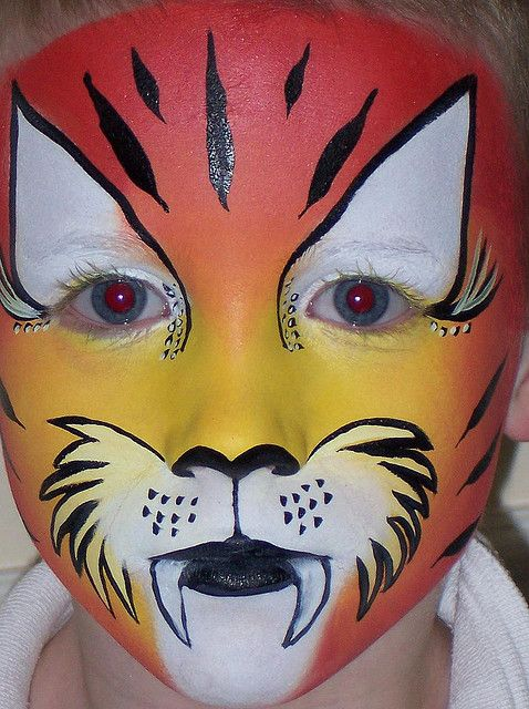 Face Painting Tiger Face Painting Yüz Boyama Pinterest Face