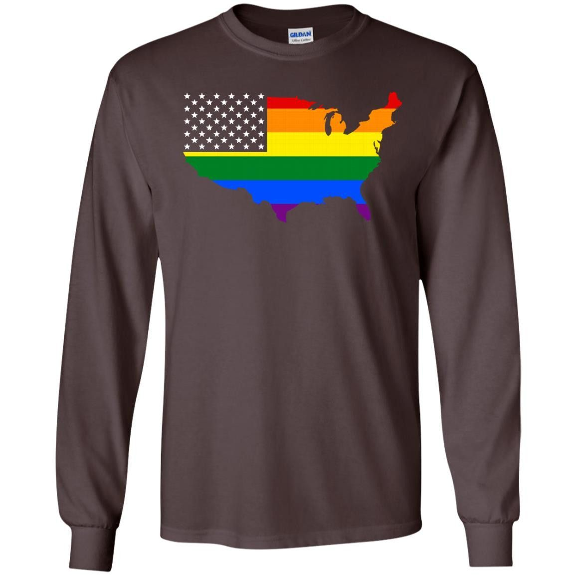 USA Pride 2017 G240 Gildan LS Ultra Cotton T-Shirt