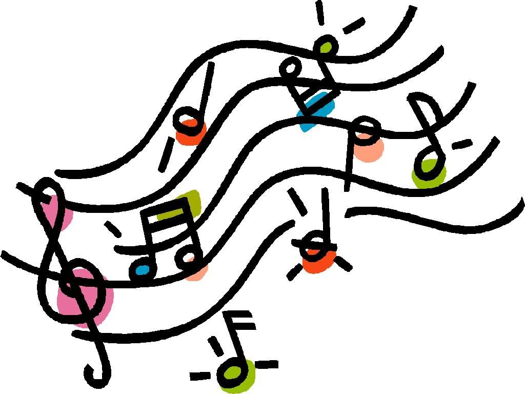 Image result for colorful music note clip art