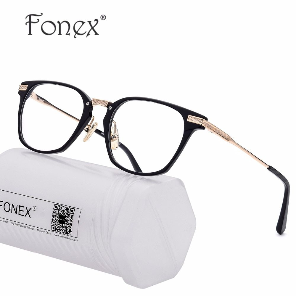 5807fa3cac4 B Pure Titanium Glasses Frame Men Ultralight Acetate Women Square Prescription  Myopia Optical Eyeglasses Spectacles Eye Eyewear Review