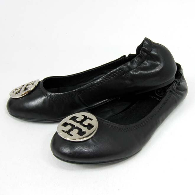 Cheap Tory Burch Reva Black Ballerina Flats Outlet Online,Tory Burch Reva  Black Ballerina Flats on Sale