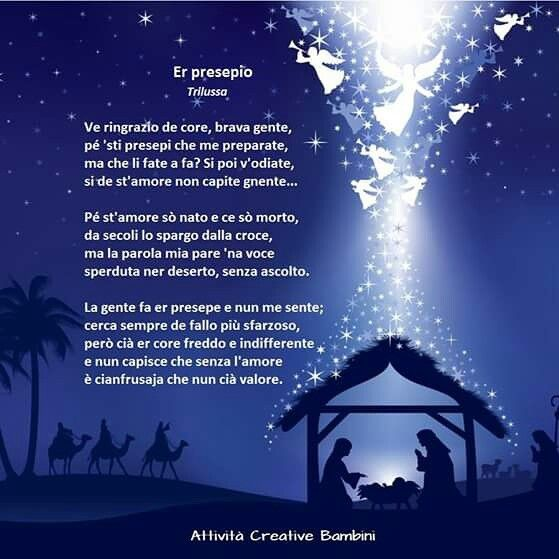 Poesie Di Natale In Siciliano.Poesia Di Natale In Dialetto Romano Filastrocche Natale Canzoni Per Bambini