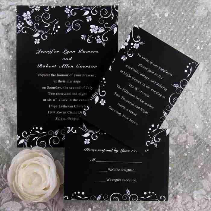 Beautiful Wedding Invitations Etiquette Details Especially For Groom Fl