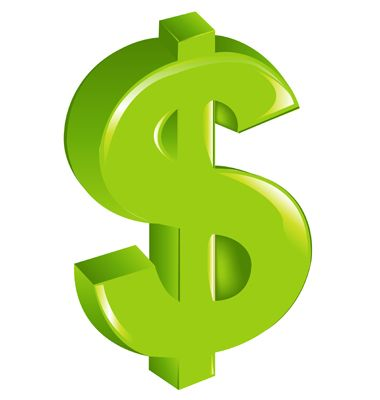 Dollar sign money. Clip art no background