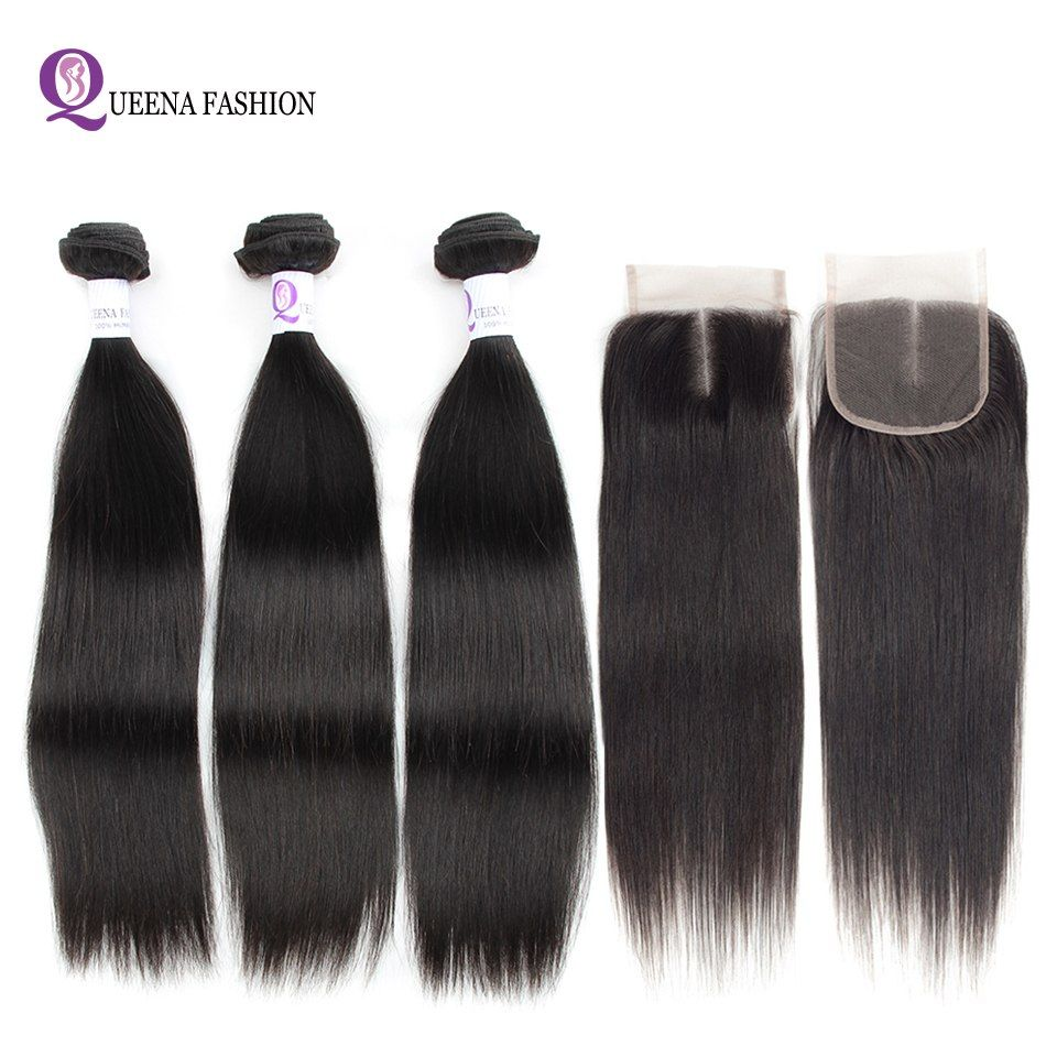 Moxika Peruvian Straight Human Hair One Bundles 8-26inch Remy Natural Black Can Be Dyed Buy More Than 3pcs Hair Extensions & Wigs