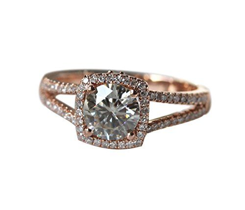 Rlovehome Round Cut 6.5mm 1ct Moissanite Diamonds Engagement Ring Wedding Ring Anniversary Ring in Solid 14k Rose Gold (J) Rlovehome http://www.amazon.co.uk/dp/B01B5ZQYJ4/ref=cm_sw_r_pi_dp_Gn18wb099WXZA