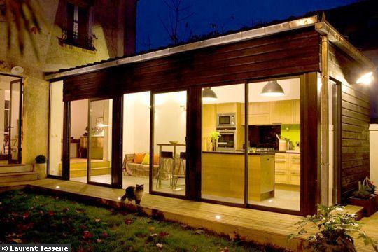 Une Extension De 30 M2 Pour Ma Cuisine Extension Maison Maison Extension Maison Bois