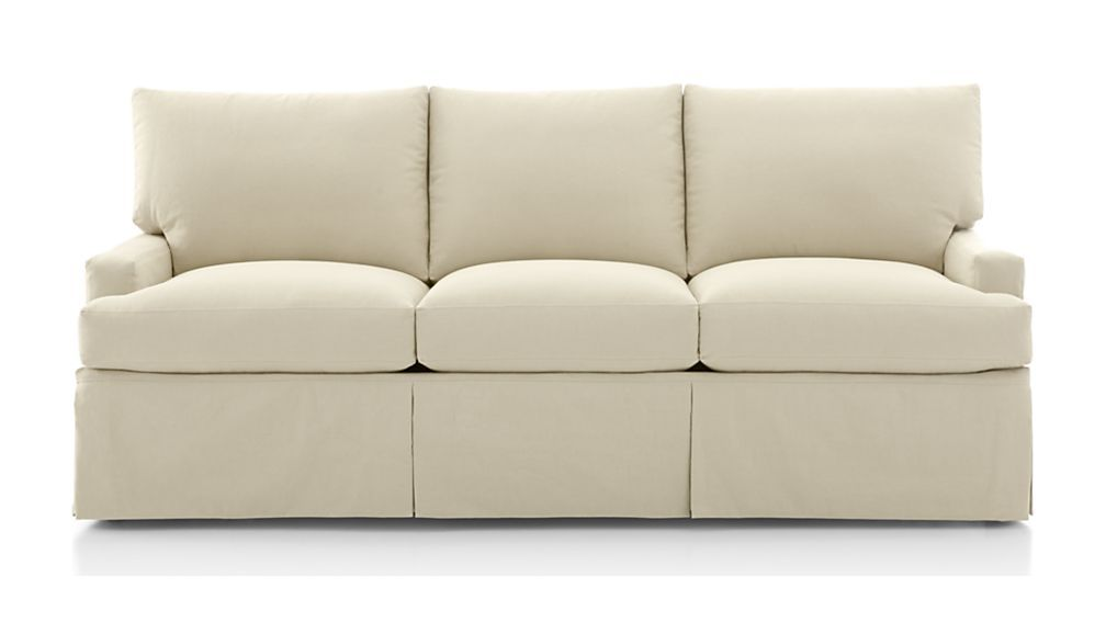 Willow White Slipcovered Sofa Reviews Crate And Barrel Slipcovered Sofa Sofa Slipcovers