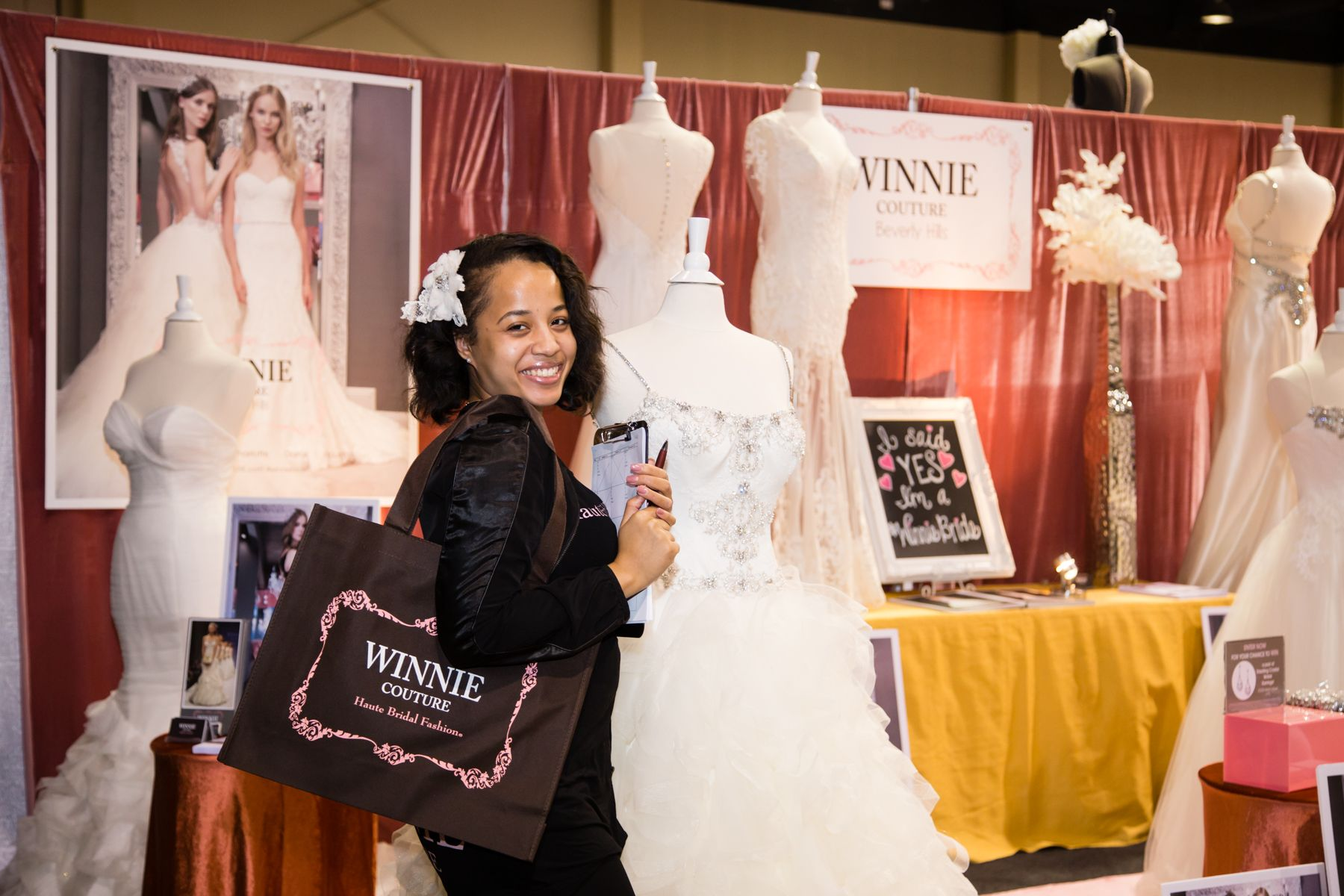 @winniecouture at the Georgia Bridal Show on 1/31 at the Infinite Energy Forum