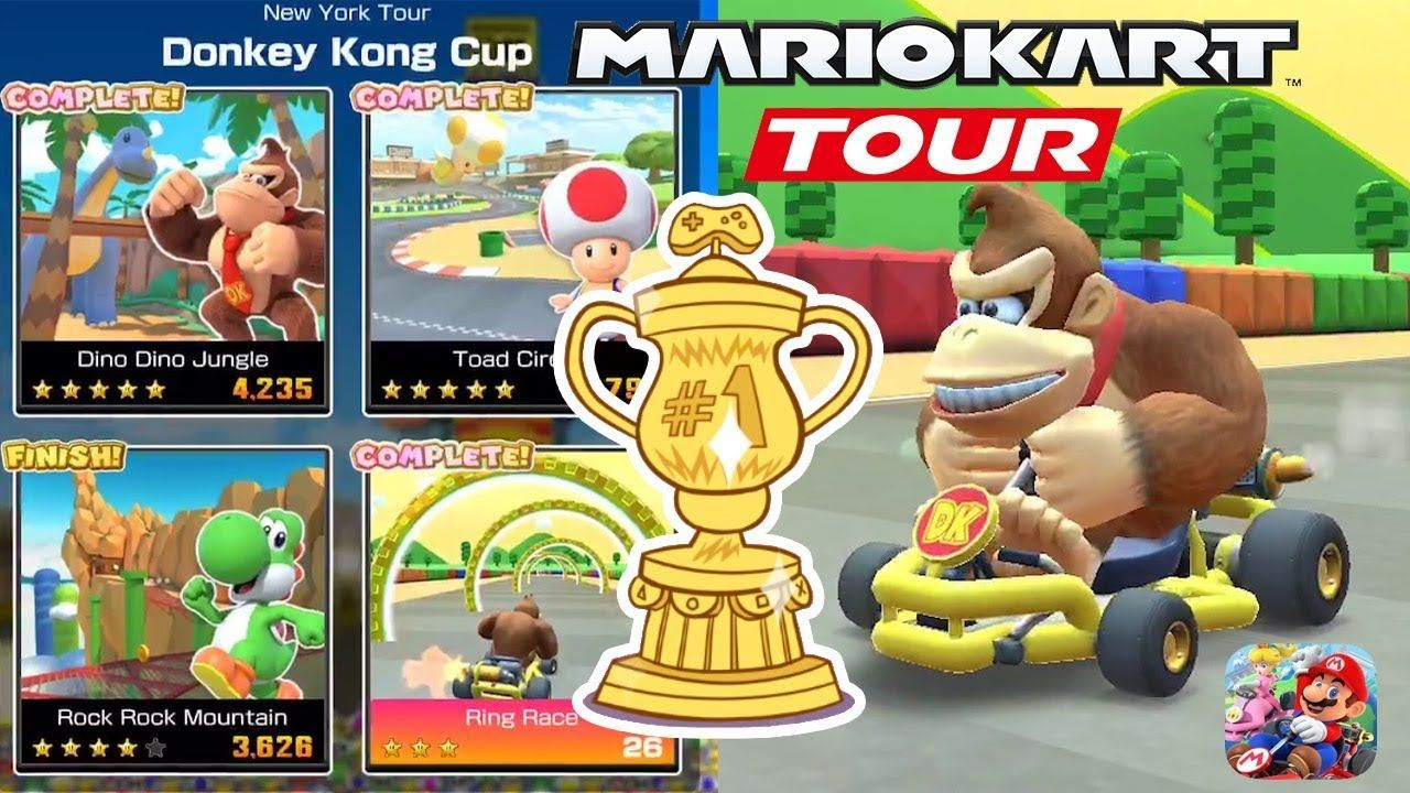 Mario Kart Tour Mobile Winner Donkey Kong Cup Android Ios Gameplay Donkey Kong Mario Kart Mario Kart Characters