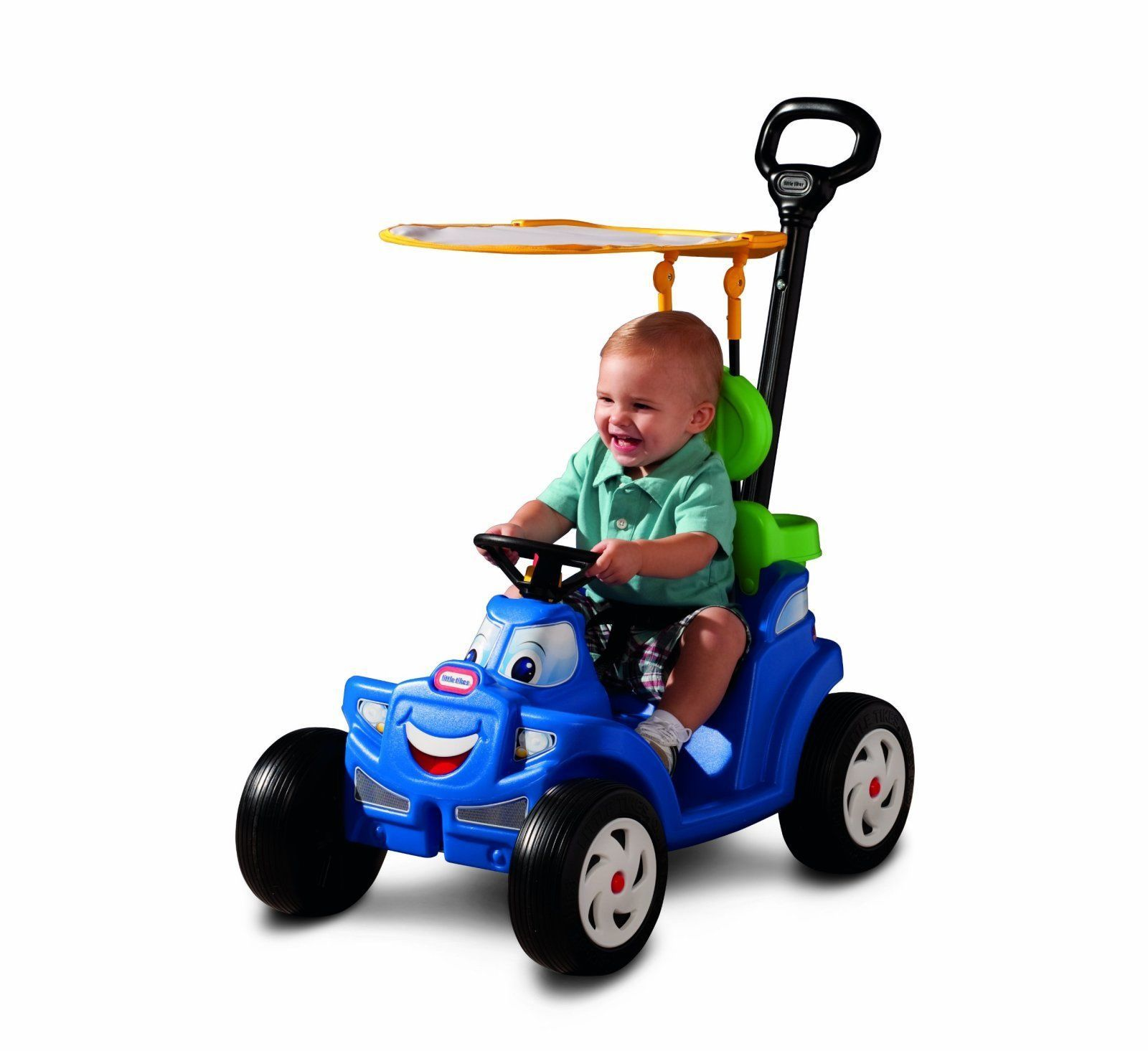 2 in 1 Cozy Roadster Baby Stroller Kids Ride Toy Car Tricycle Bike Handle