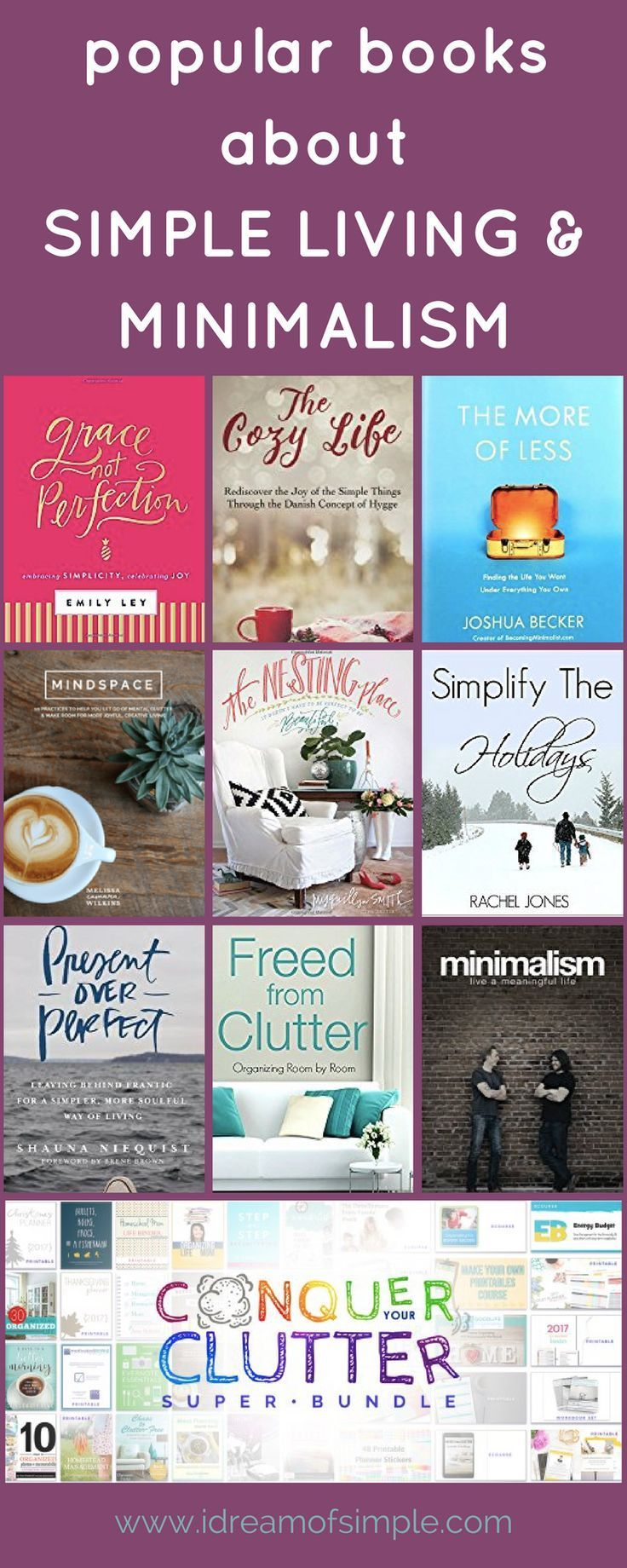 Read about some of my favorite books on simple living and minimalism. #books #simpleliving