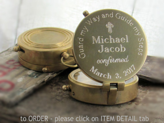 Confirmation Gift. Engraved Compass. Confirmation by BaptismGift