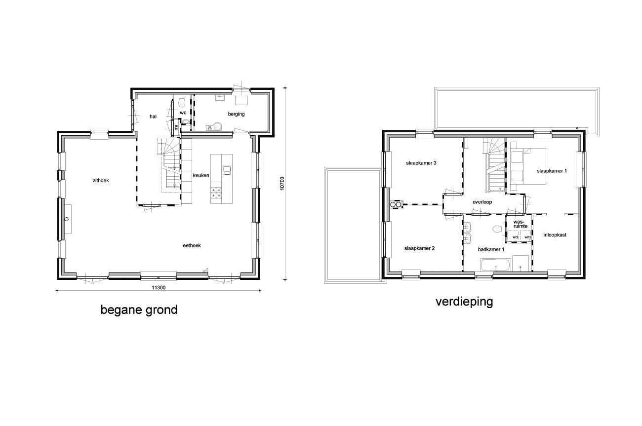 Plattegrond selekthuis verzorgt het complete traject for Plattegrond woning indeling