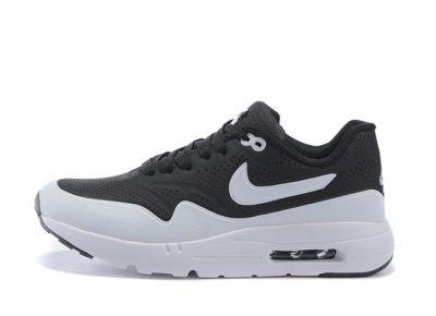 Nike Air Max 1 Ultra Moire Panda Tuxedo Black White Kid Children Shoes  705297-001 39ca07d86