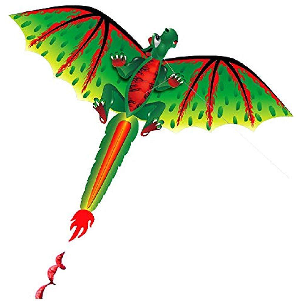 CIM Kinder-Drachen Draki Rainbow Einleiner-Flugdrachen inkl Drachenschnur Krake