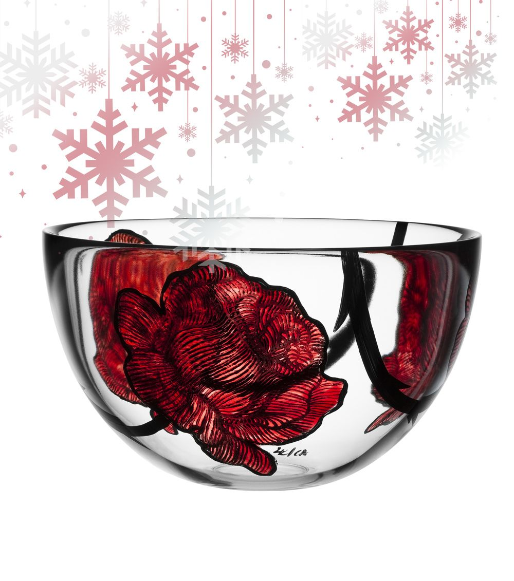 Kosta boda tattoo bowl kostaboda bowl christmas advent glam