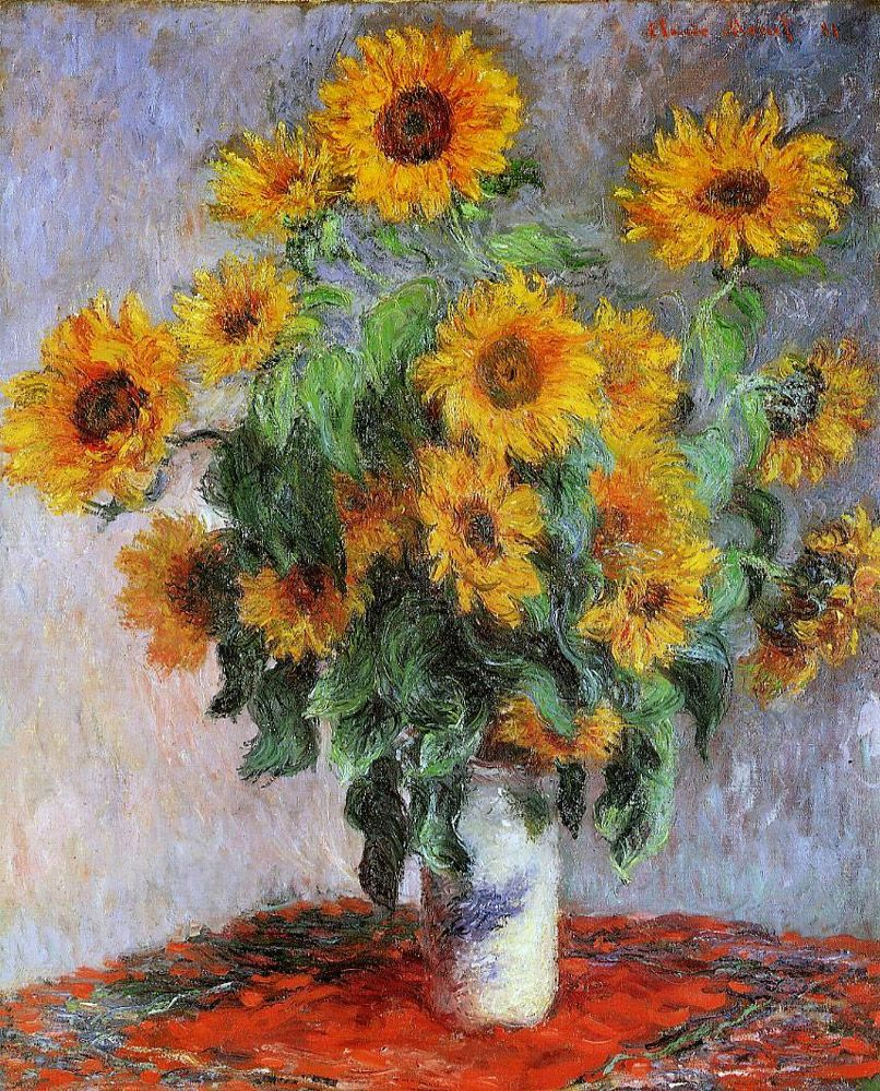 Claude Monet Bouquet Of Sunflowers 1881 Information About Painting Art Monet Paintings