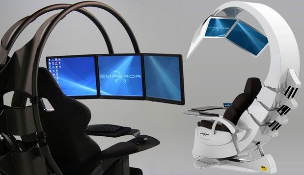 wonderful futuristic office desk   Home Office Design: 7 Very Creative Space Savers   Home ...