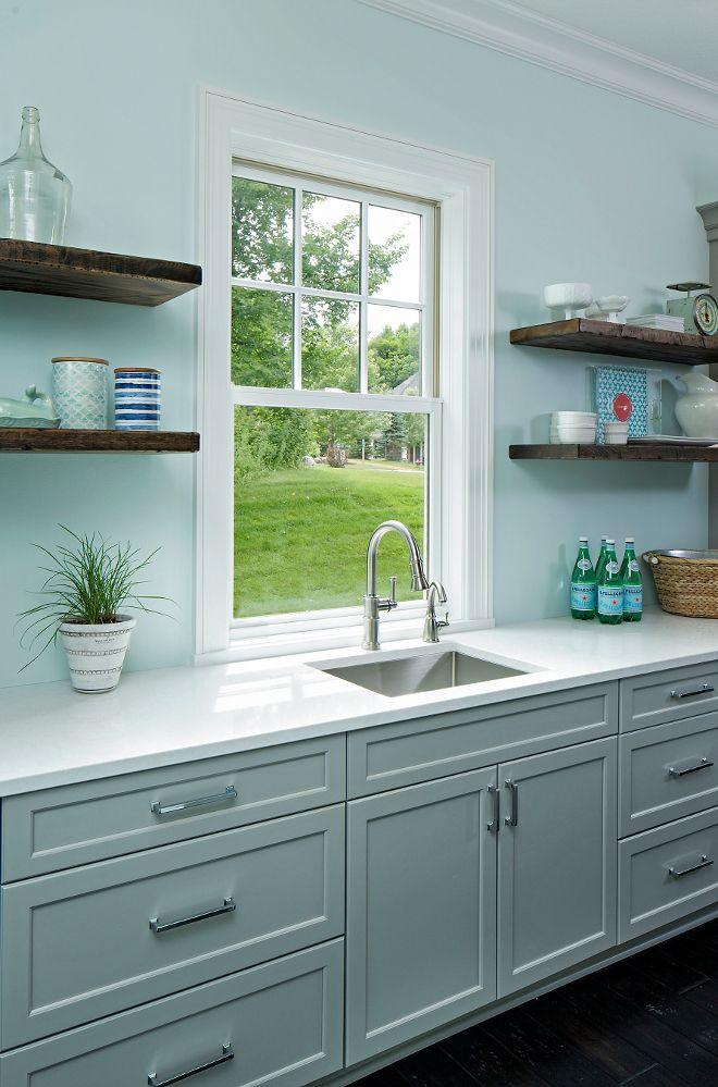 wall color is crystal blue 2051 70 benjamin moore cabinet on benjamin moore kitchen cabinet paint id=80536